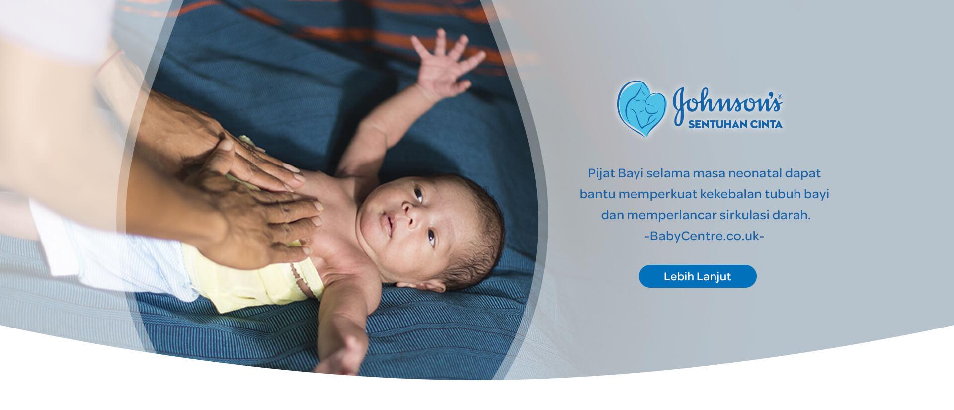 Pijat Bayi selama neonatal dapat bantu memperkuat kekebalan tubuh bayi dan mmemperlancar sirkulasi darah